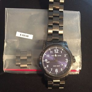 NWOB- Men's Michael Kors Graphite colored watch
